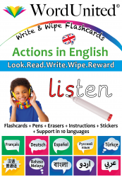 Actions in English - Write & Wipe (Flashcard kit)