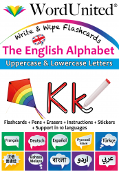 The English Alphabet - Write & Wipe (Flashcard kit)