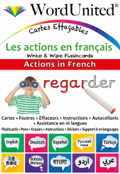 Actions in French - Write & Wipe (Flashcard kit)