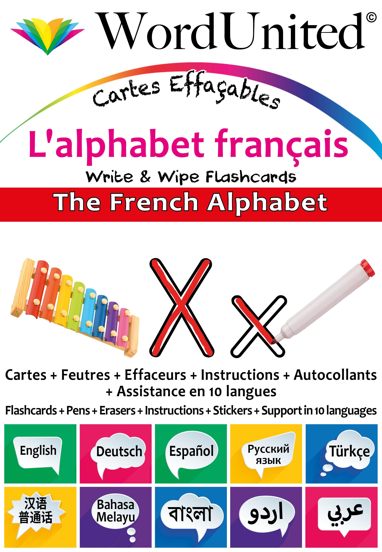 The French Alphabet Write Amp Wipe Flashcard Kit