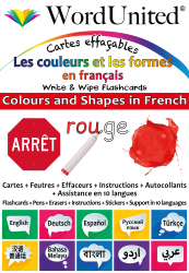 Colours & Shapes in French - Write & Wipe (Flashcard kit)