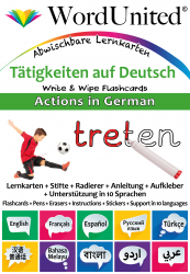 Actions in German - Write & Wipe (Flashcard kit)