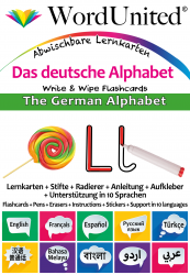 The German Alphabet - Write & Wipe (Flashcard kit)