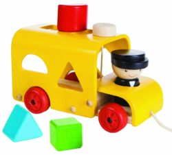 Plan Toys Shapes Sorting Bus