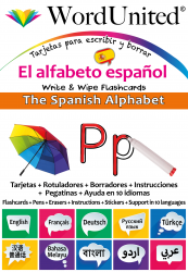 The Spanish Alphabet - Write & Wipe (Flashcard kit)