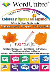 Colours & Shapes in Spanish - Write & Wipe (Flashcard kit)