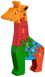 Lanka Kade Fair Trade Giraffe 1-5 Number Jigsaw Puzzle (Early Numeracy Jigsaw)