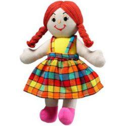 Lanka Kade Fair Trade Girl - White Skin, Red Hair (Rag Doll)