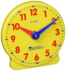 Learning Resources Big Time Learning 12-Hour Student Clock