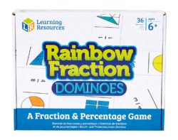 Learning Resources Rainbow Fraction Dominoes (Fractions Game)