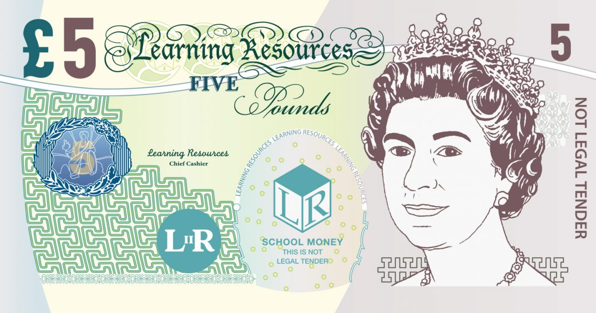 Learning Resources Realistic Looking Play Money 2017