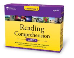 Learning Resources Reading Comprehension Cards - Year Group 7