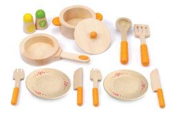 Hape Gourmet Kitchen Starter Set (Pretend Play - Pots, Pans & Utensils)