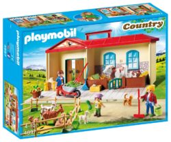 Playmobil 4897 - Country Take Along Farm with Carry Handle and Fold-Out Stables
