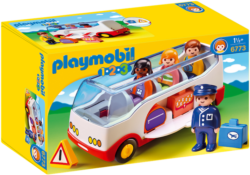 Playmobil 1.2.3 6773 - Airport Shuttle Bus with Sorting Function
