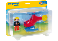 Playmobil 1.2.3 6789 - Fire Rescue Helicopter