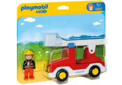 Playmobil 1.2.3 6967 - Ladder Unit Fire Truck