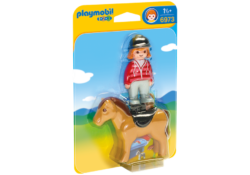 Playmobil 1.2.3 6973 - Equestrian with Horse