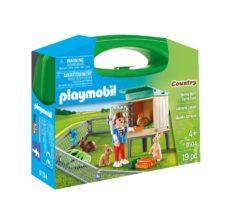 Playmobil 9104 - Bunny Rabbit Barn Carry Case
