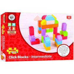 Bigjigs Wooden Click Blocks (Intermediate Pack)