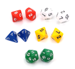 Polyhedral Dice Assortment (Pack of 10)
