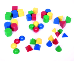 Edx Education Small Geometric Solids (Pack of 40 3D Shapes)