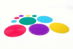 TickiT SiliShapes® 10 Sensory Circles & Feely Bag Set