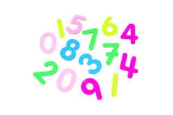 TickiT Rainbow Acrylic Numbers (Pack of 14)