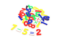 Wooden Magnetic Numbers (Pack of 37)