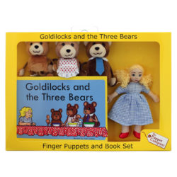 The Puppet Company Goldilocks & the Three Bears - Traditional Story Set (Finger Puppets + Book)