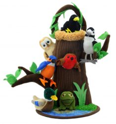 The Puppet Company Tree with Nest & Pond (Hide Away Finger Puppet Set)