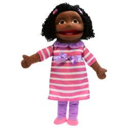 The Puppet Company - Medium Girl with Dark Skin Tone (Hand Puppet)