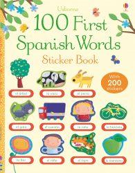 100 First Spanish Words - Usborne Sticker Book