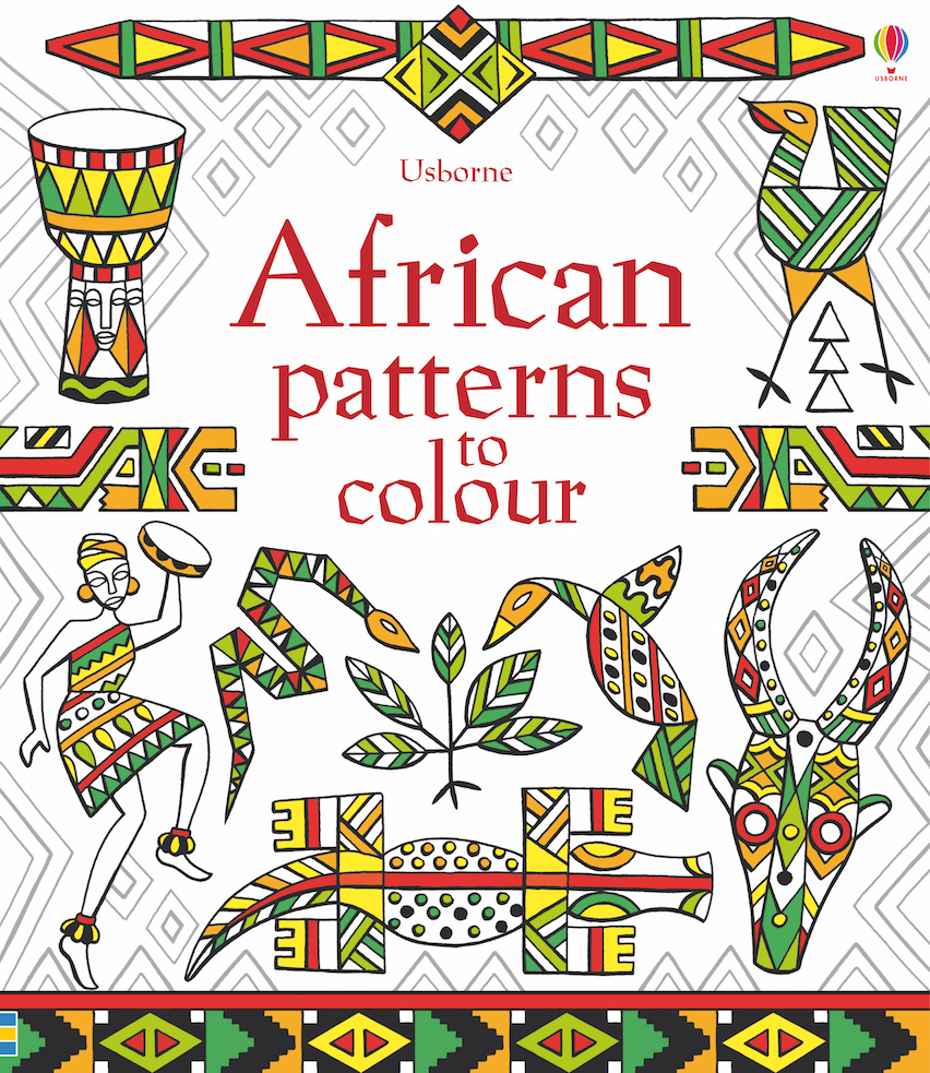 Usborne African Patterns To Colour Wordunited