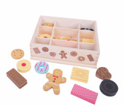 Bigjigs Assorted Wooden Biscuits in Box (Play Food)