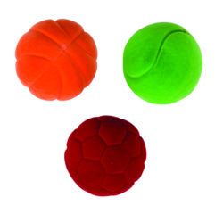 Rubbabu Soft Velvety Bouncy Small Sensory Balls (Pack of 3)