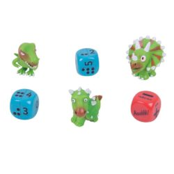 ZooBooKoo Dino Dice Numbers & Dots Level 1: Counting, Addition & Subtraction (Mental Mathematics Game)