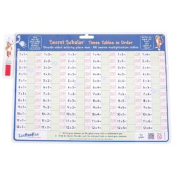 ZooBooKoo Times Tables (in Order): Wipe Clean Mat with Secret Decoder