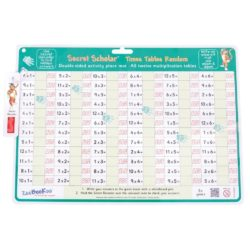 ZooBooKoo Times Tables (Random): Wipe Clean Mat with Secret Decoder