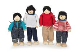 Tidlo Wooden Asian Doll Family