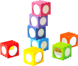 Rainbow Texture Sensory Blocks (8 Bricks)