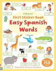 Easy Spanish Words (Usborne First Sticker Book)