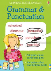Grammar and Punctuation - Usborne Wipe-Clean Cards