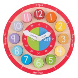 Bigjigs Toys Wooden Teaching Clock - Tell The Time