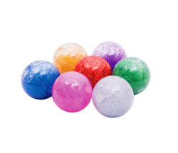 TickiT Sensory Rainbow Glitter Balls (Pack of 7)
