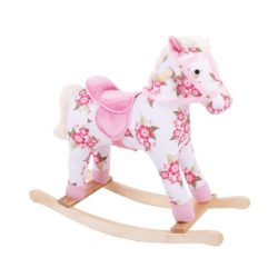 Bigjigs Toys Plush Rocking Horse (Floral)