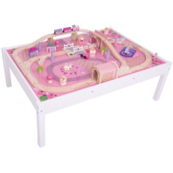 Bigjigs Rail Wooden Magical Train Set and Table (59 Pieces)