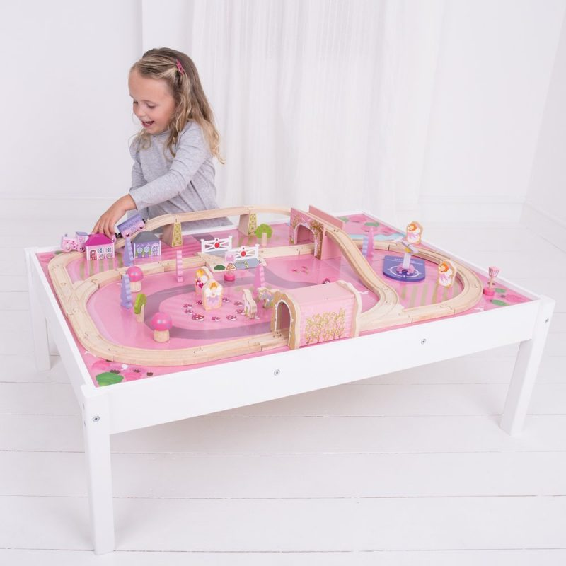Bigjigs Rail Wooden Magical Train Set And Table 59 Pieces