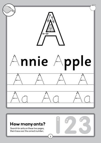 handwriting practice 1 first alphabet and numbers letterland wordunited. Black Bedroom Furniture Sets. Home Design Ideas