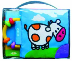 Soft Book with Rattle and Teether - Cow